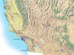 Southwest USA topo Map