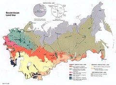 Soviet Union Land Use Map