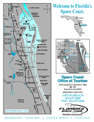 Space Coast, Florida Map
