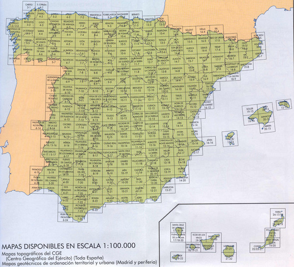 Spain's Population Topographical Map