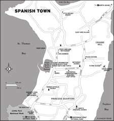 Spanish Town BVI Map