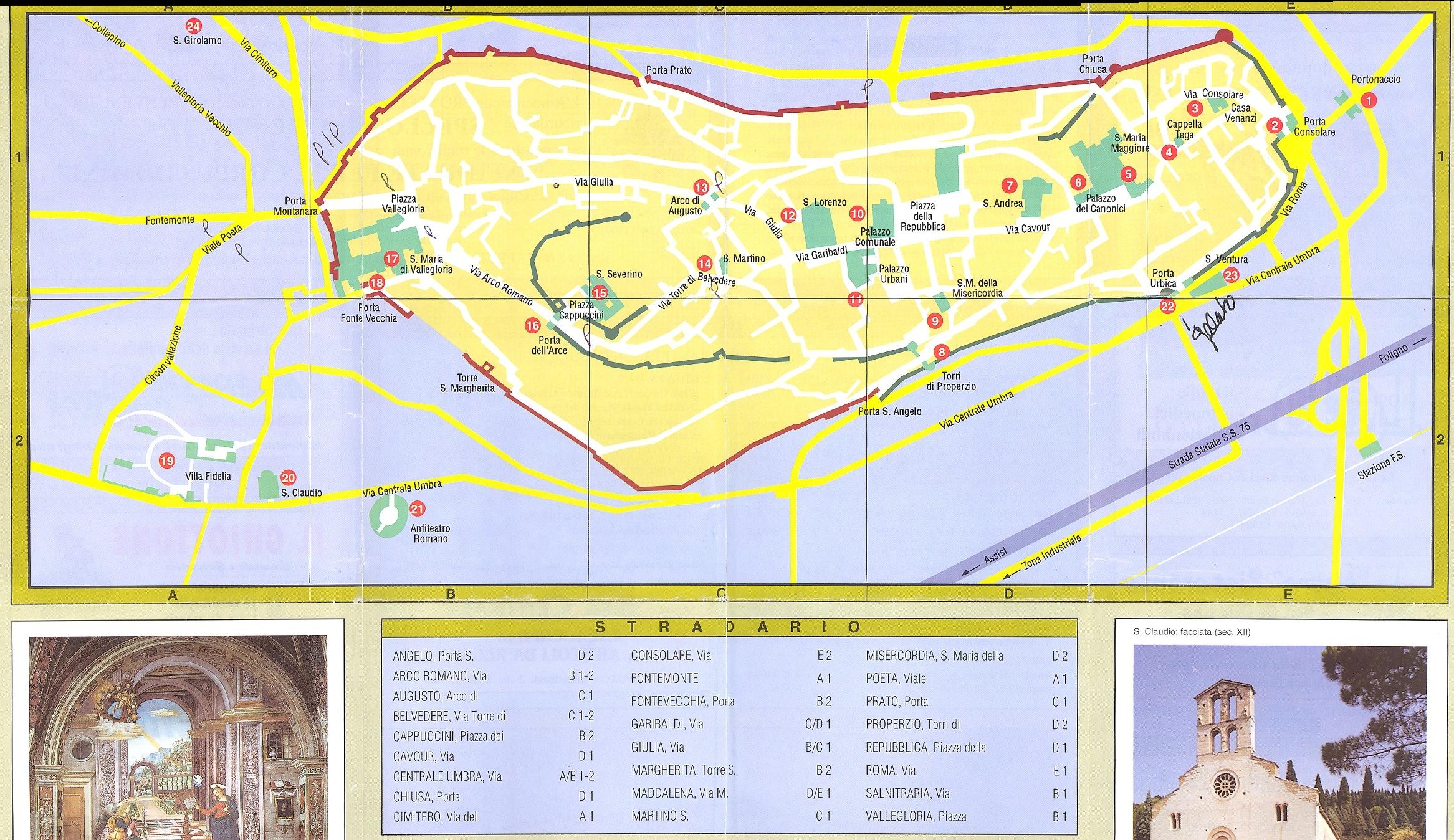 Spello Map   spello it • mappery
