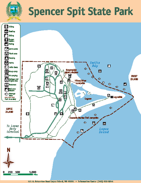 Spencer Spit State Park Map