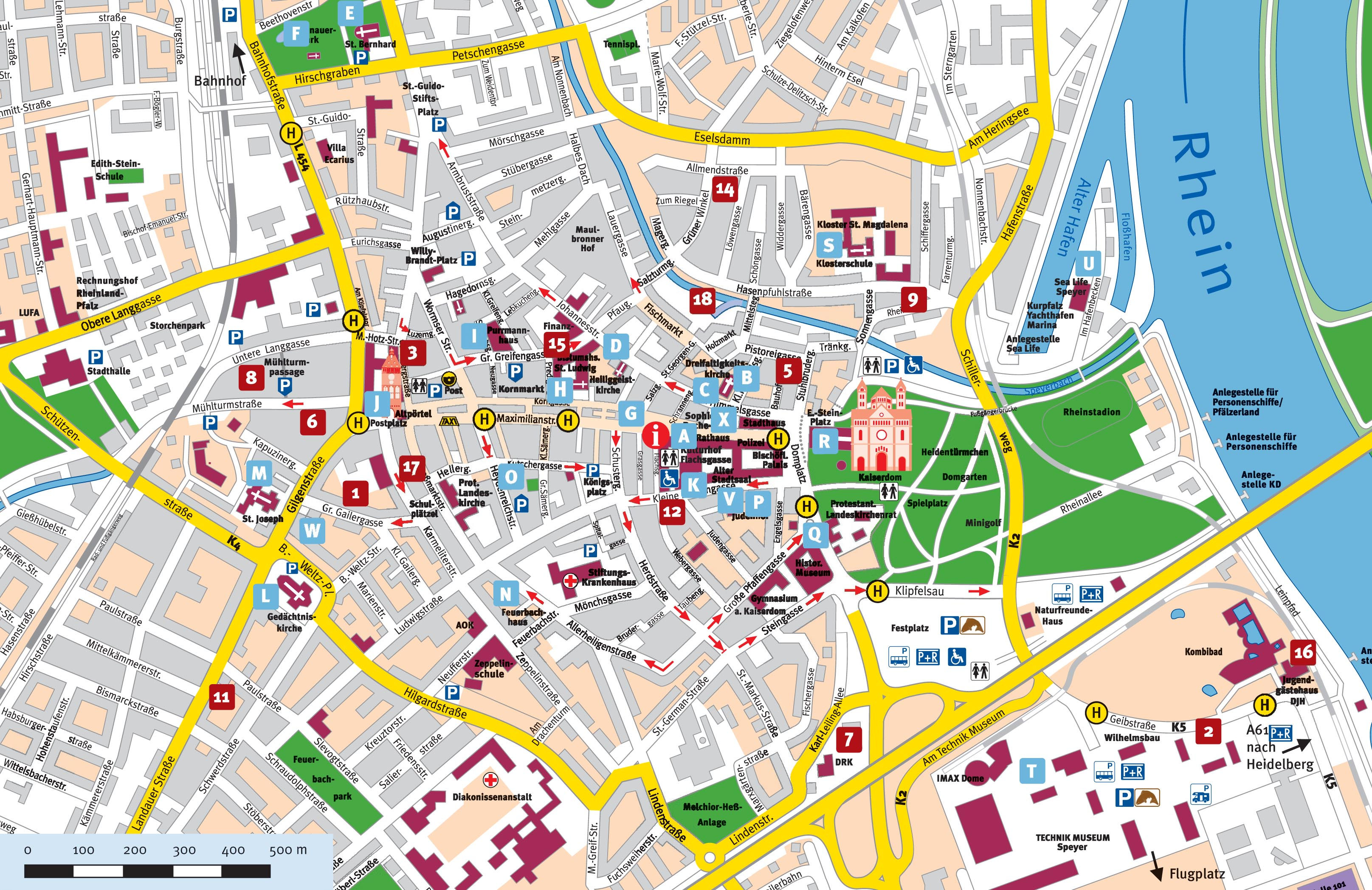 Speyer Tourist Map Speyer Germany mappery – Munich City Map Tourist