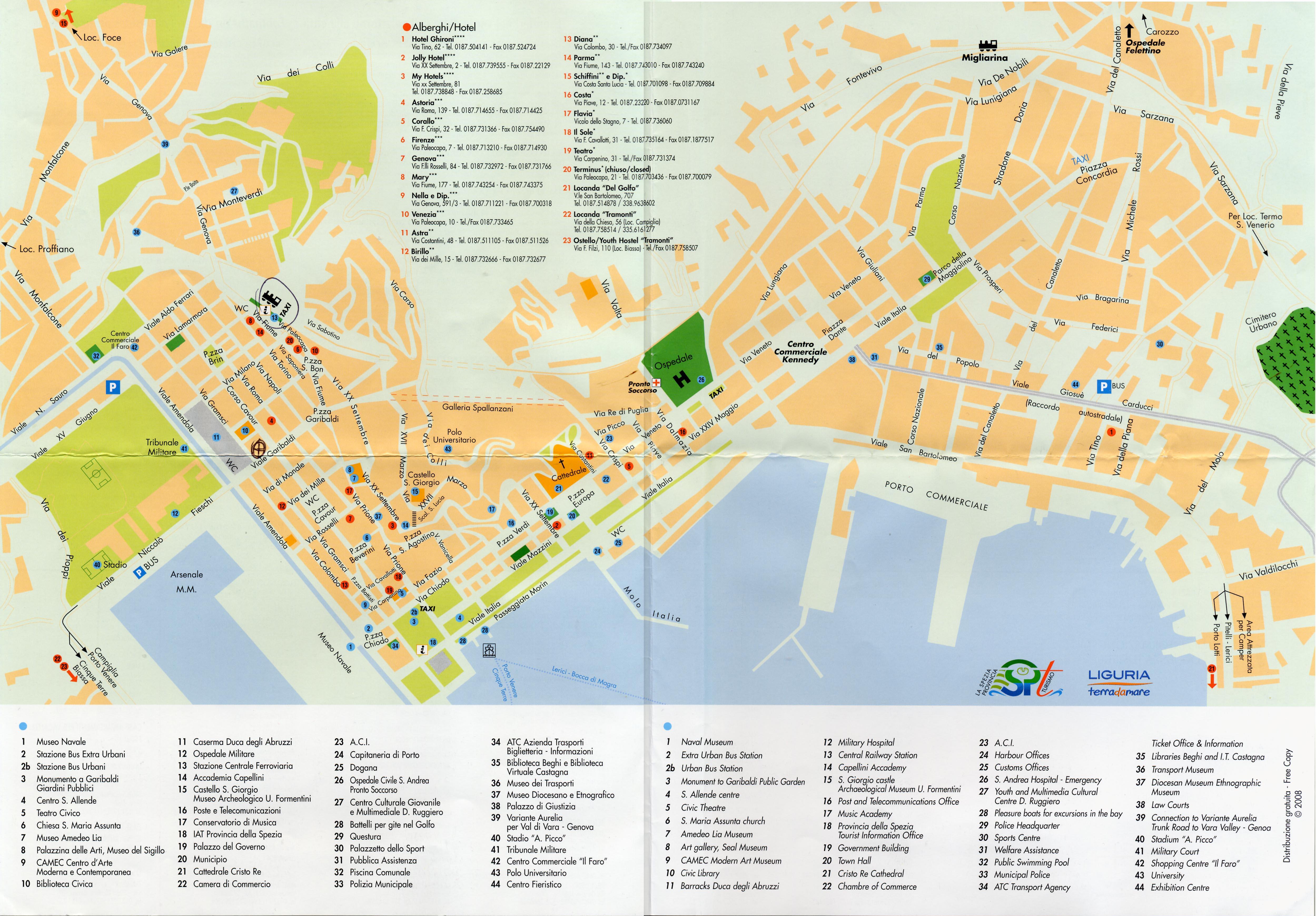 Spezia Map Spezia Mappery