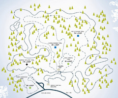 Spirit Mountain Nordic Ski Trail Map