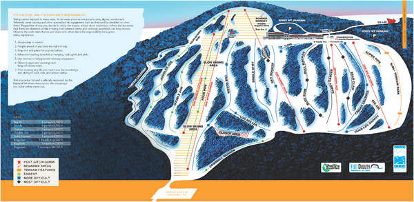 Spirit Mountain Ski Trail Map