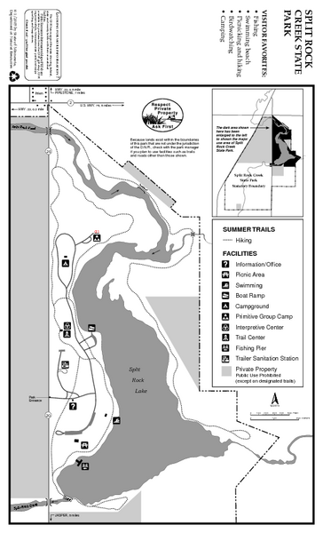 Split Rock Creek State Park Summer Map