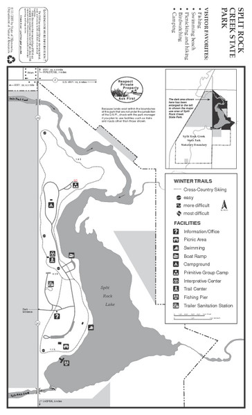 Split Rock Creek State Park Winter Map