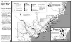 Split Rock Lighthouse State Park Winter Map
