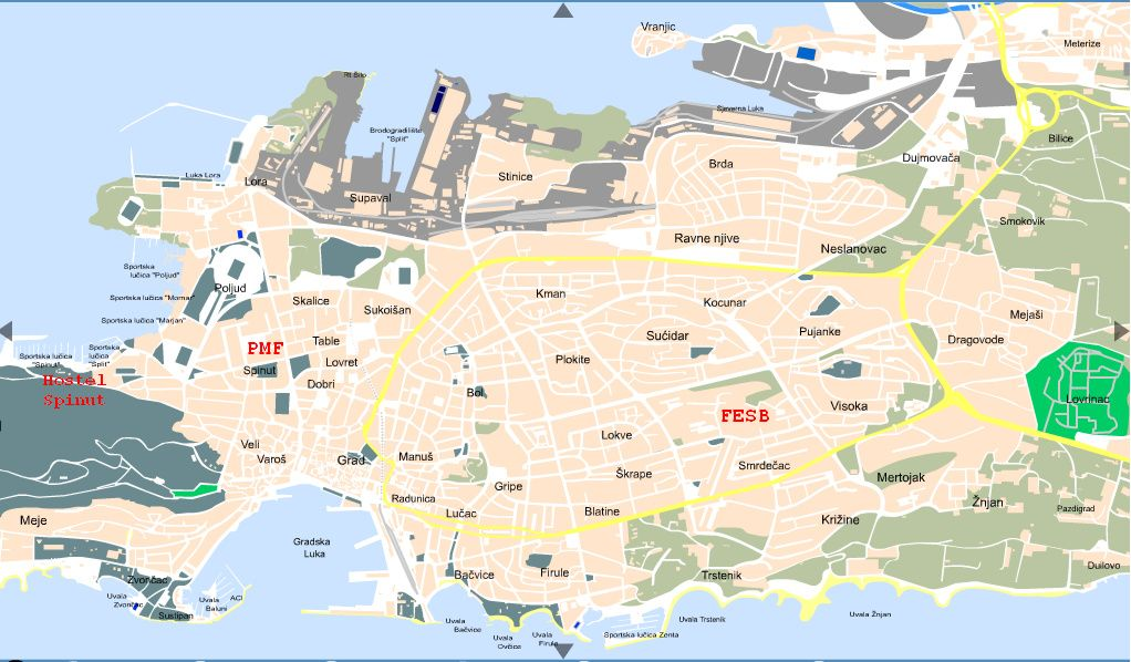Split Tourist Map Split mappery – Croatia Tourist Map