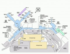 Spokane International Airport Terminal Map