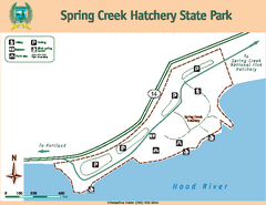 Spring Creek Hatchery State Park map