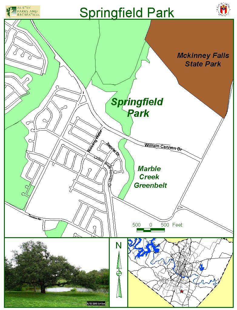 Springfield Park Map  6300 E William Cannon Austin  Mappery