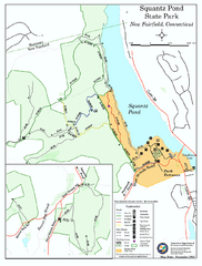 Squantz Pond State Park map