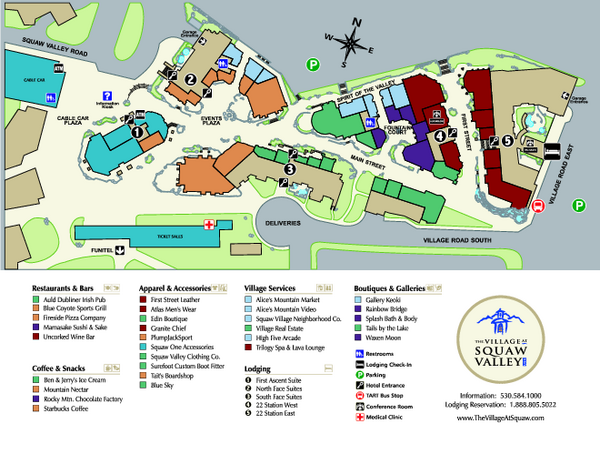 Squaw Valley Base Village Map