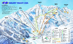 Squaw Valley USA Trail Map