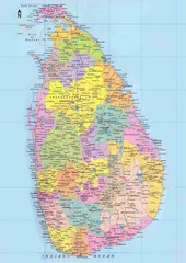 Sri Lanka Political Map