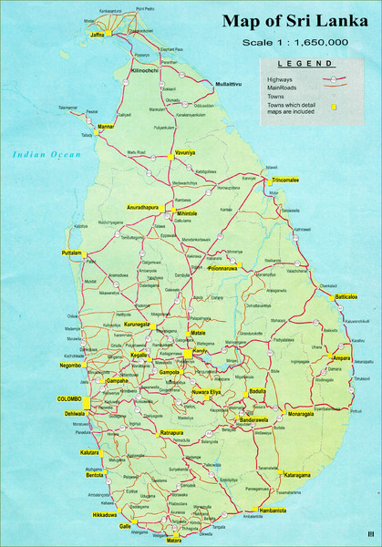 Sri Lanka Road Map