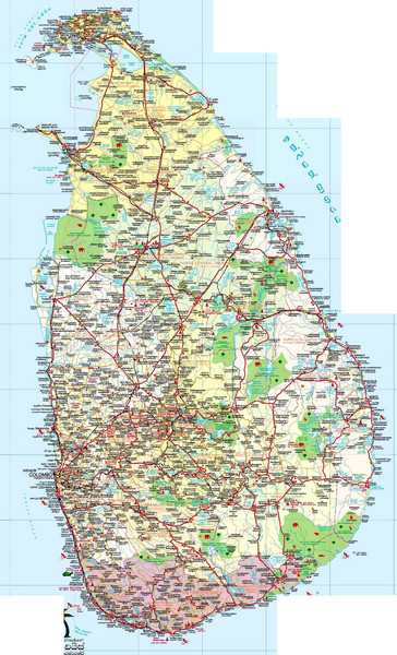 Sri Lanka Political Map.Sri Lanka Political Map Sri Lanka Mappery