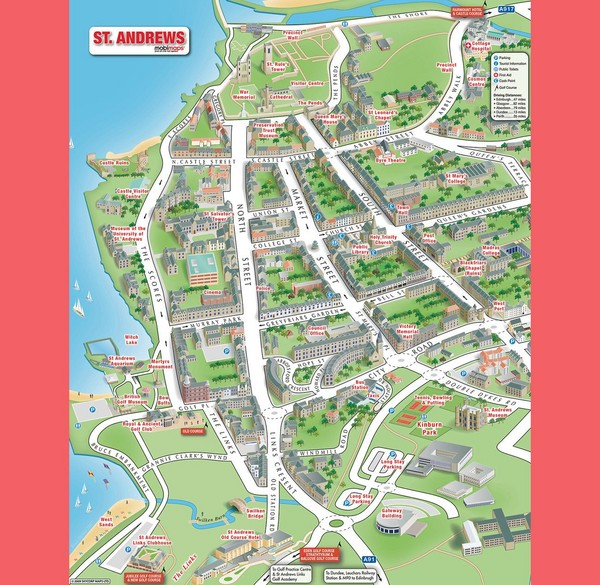 St Andrews Scotland Tourist Map St Andrews Scotland mappery – Tourist Map Of Scotland