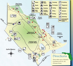 St. Andrews State Park Map