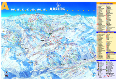 St Anton Region Ski map