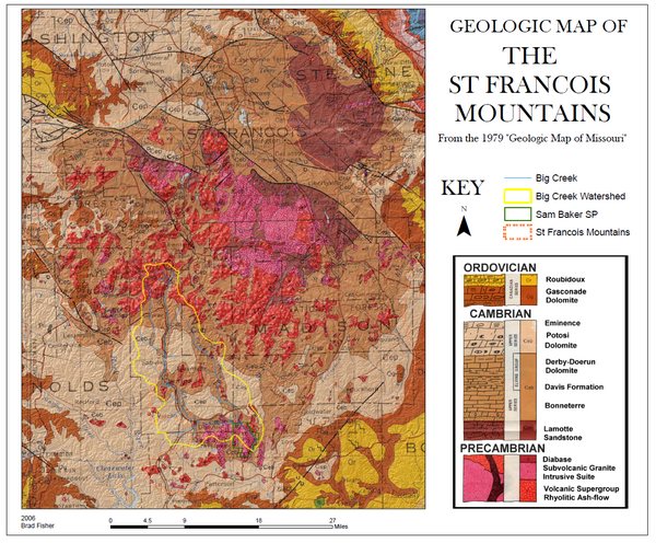St. Francois Mountains Geologic Map