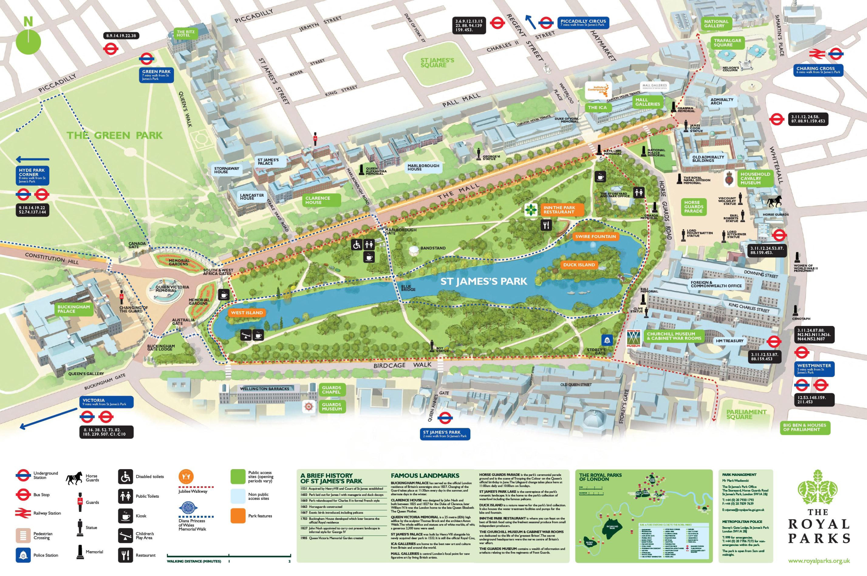 St James Park Map St James Park London mappery