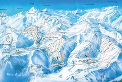 St Jean D'arves Piste Ski Map