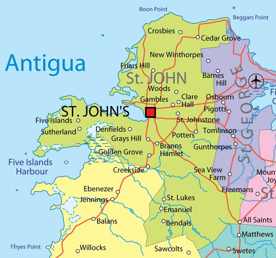 st john province map mappery