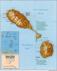 St. Kitts and Nevis Map
