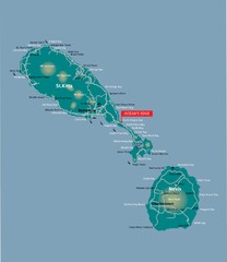 St. Kitts and Nevis dive sites Map