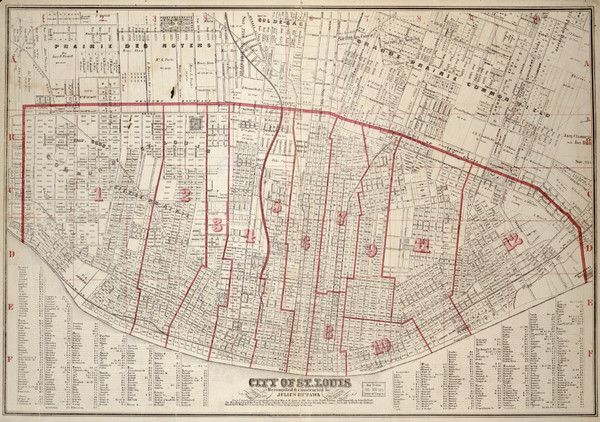 St. Louis - 1870 - Cadastral Map