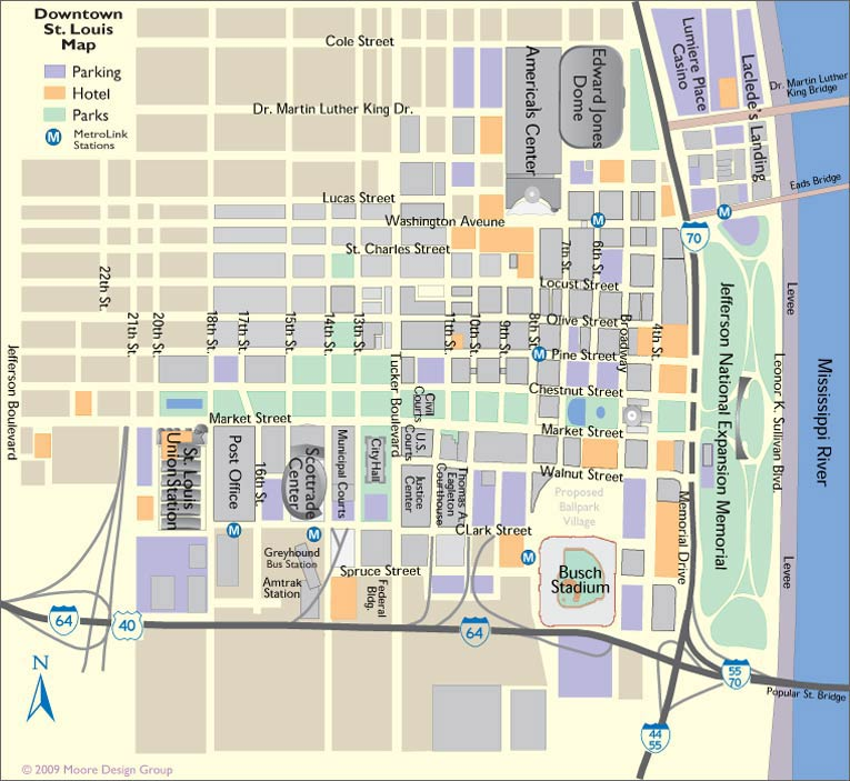 St Louis MO Tourist Map - St Louis MO • mappery