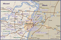 St. Louis, MO Tourist Map