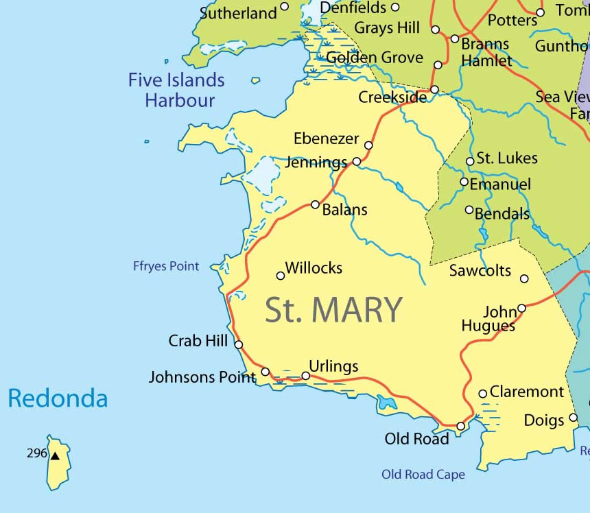 St Mary province Map mappery