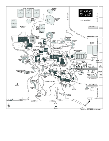 St. Olaf College Map