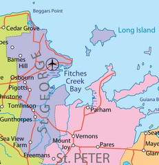 St. Peter and St. George provinces Map