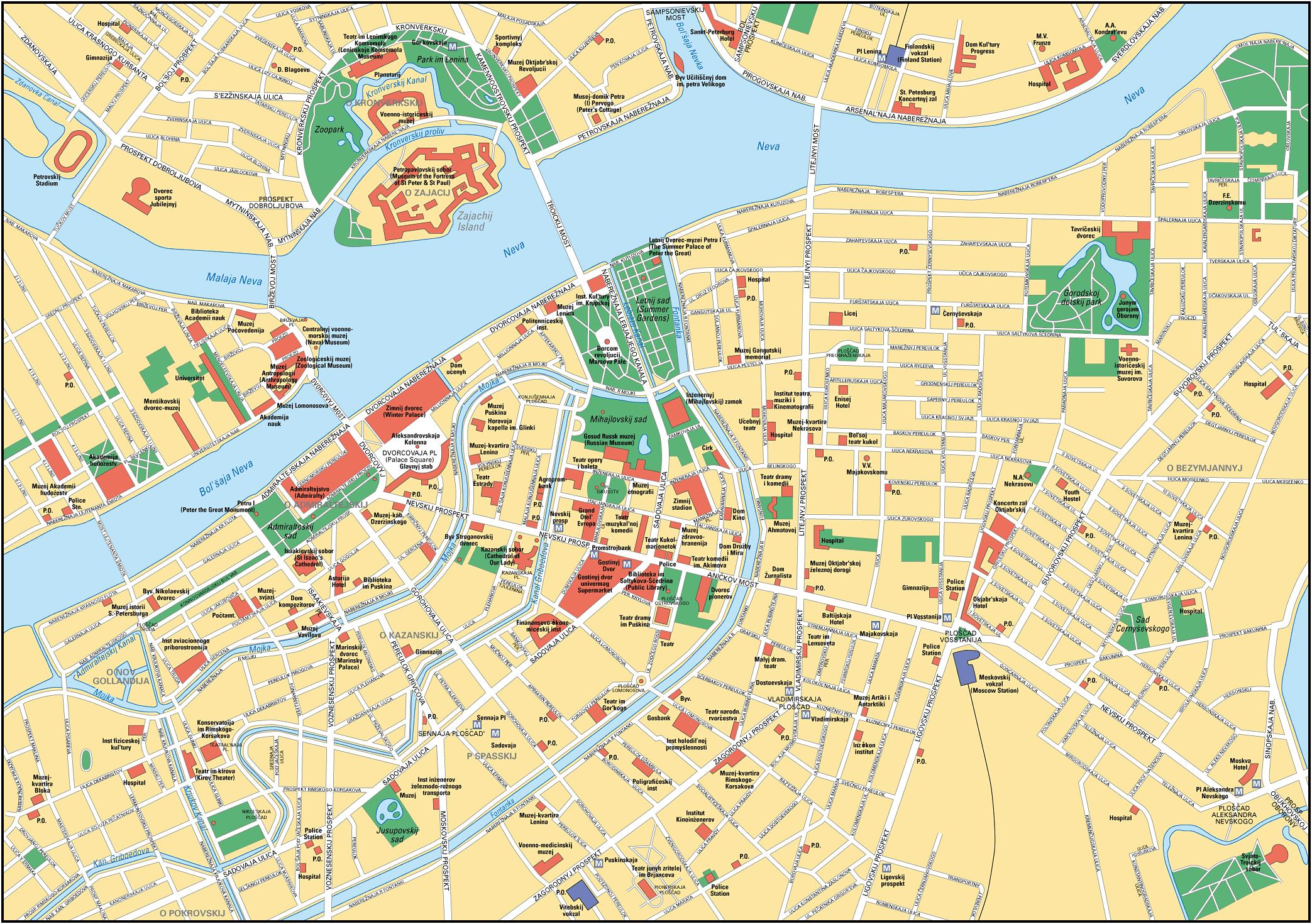 St petersburg map see map details from www rus tourist ru