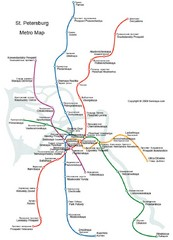 St Petersburg Metro Map