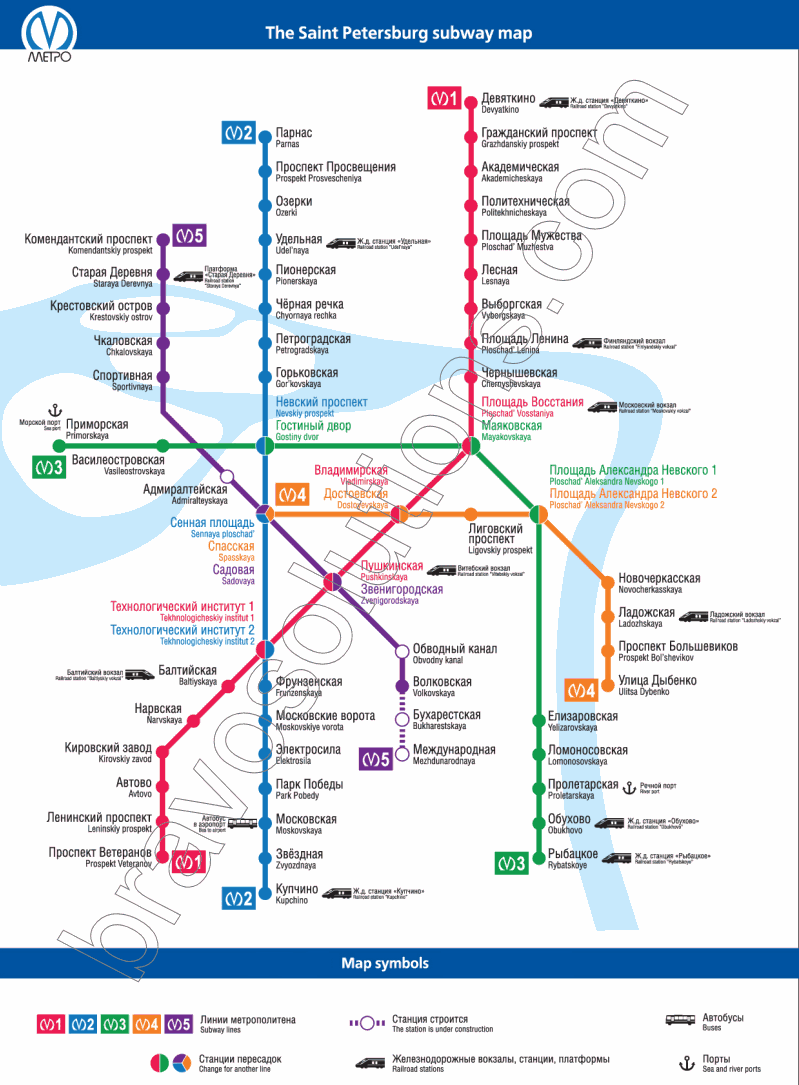 Saint Petersburg Russia Subway Map.St Petersburg Subway Map St Petersburg Mappery