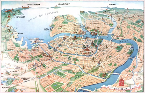 Saint Petersburg maps mappery – Tourist Attractions Map In Russia