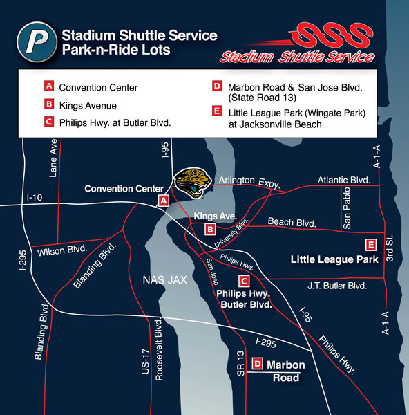 Stadium Shuttle Service Map