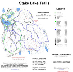 Stake Lake Nordic Ski Trail Map