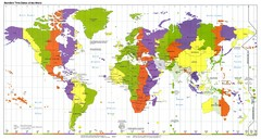 Standard World Times Zones Map