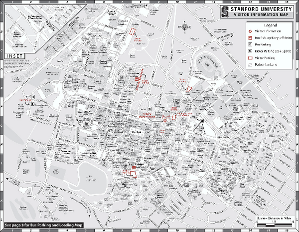 stanford campus map pdf Stanford University Map Stanford California Mappery stanford campus map pdf