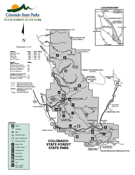 State Forest State Park Map 56750 Highway 14 Walden Co Mappery