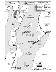 State Parks of the Champlain Islands Map