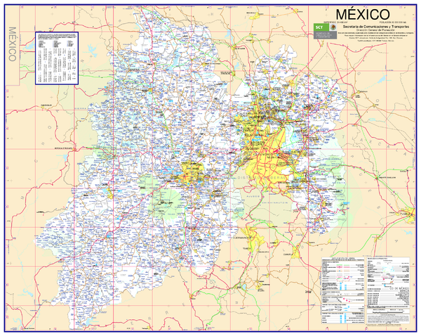fullsize state of mexico road map